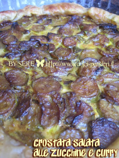 CROSTATA SALATA ALLE ZUCCHINE E CURRY 1